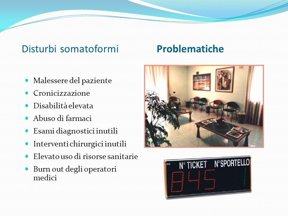 Disturbi somatoformi Problematiche