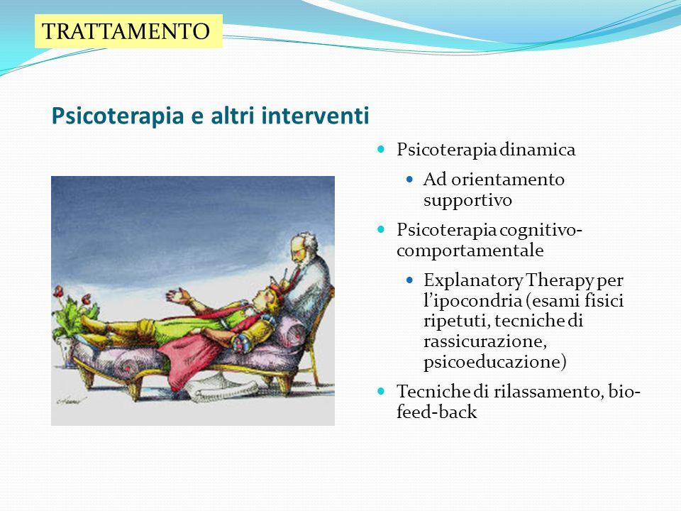 Psicoterapia e altri interventi