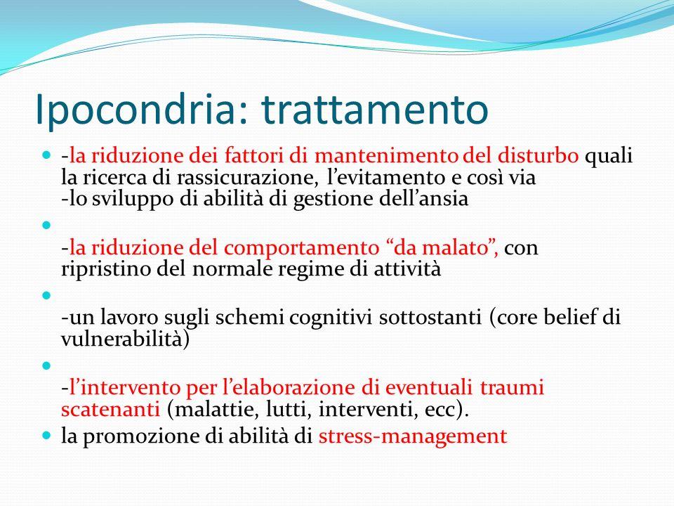 Ipocondria: trattamento