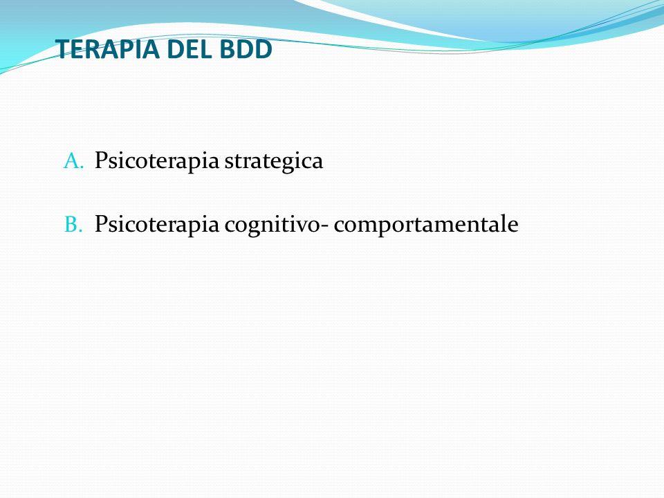 TERAPIA DEL BDD Psicoterapia strategica