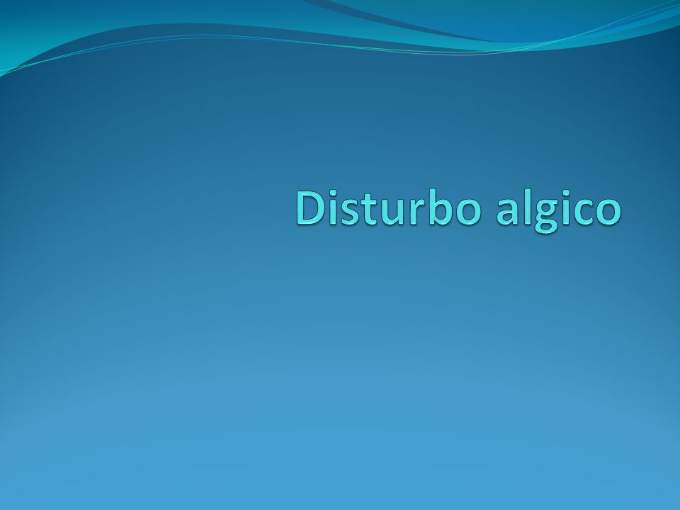 Disturbo algico