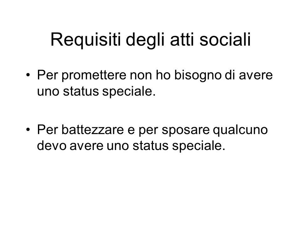 Requisiti degli atti sociali