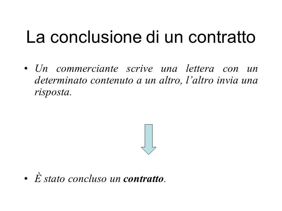 La conclusione di un contratto