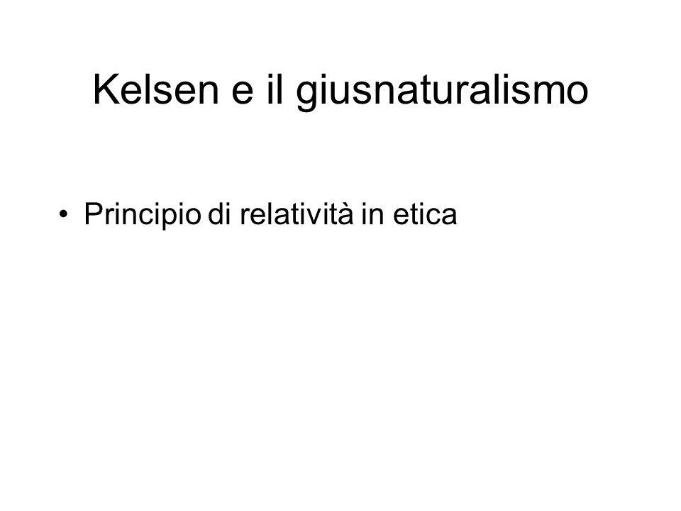 Kelsen e il giusnaturalismo
