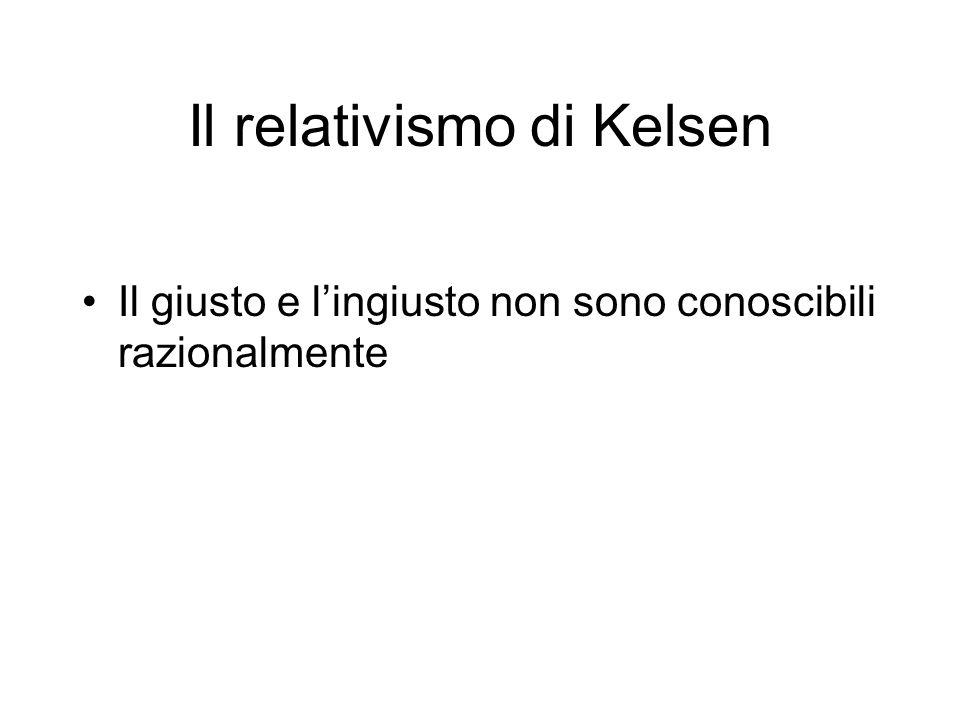Il relativismo di Kelsen