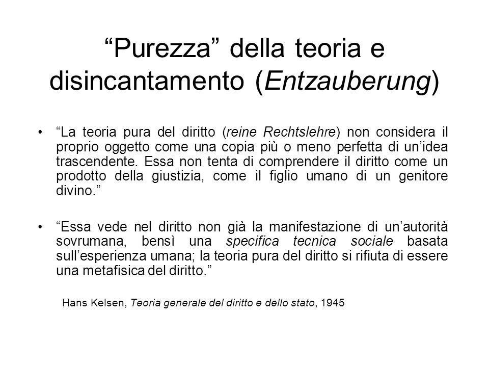 Purezza della teoria e disincantamento (Entzauberung)