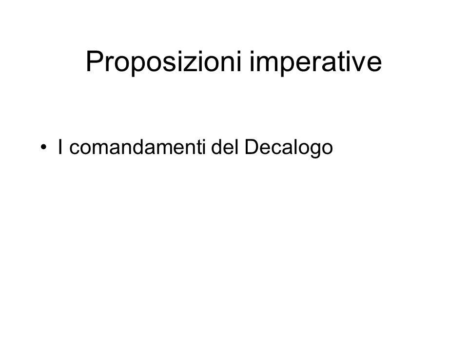 Proposizioni imperative