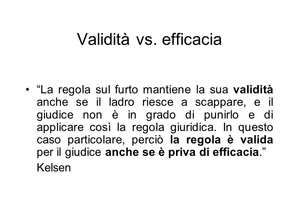 Validità vs. efficacia