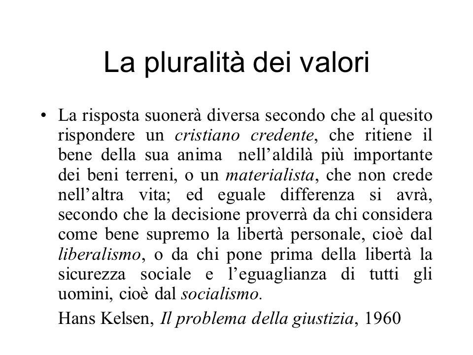 La pluralità dei valori