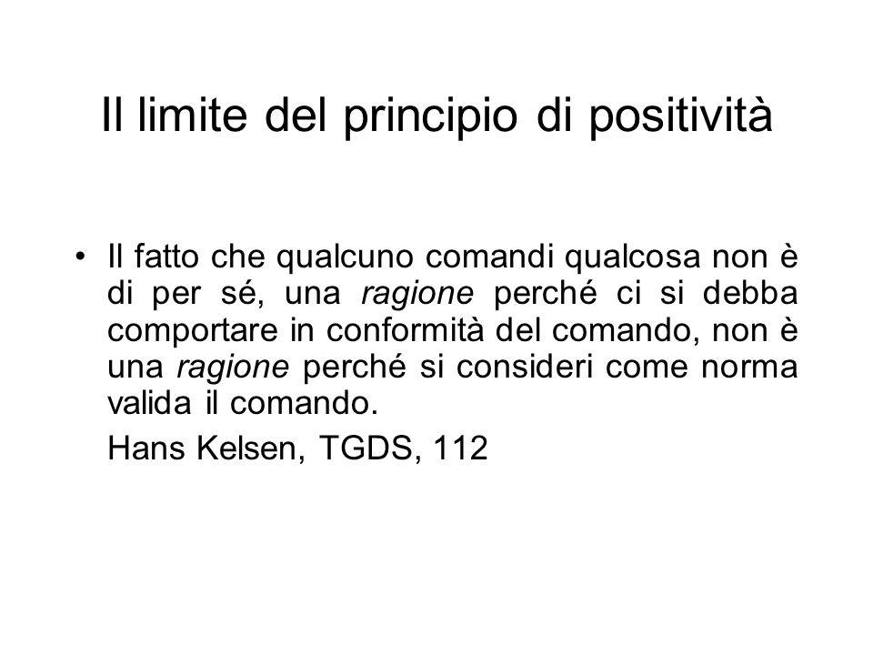 Il limite del principio di positività