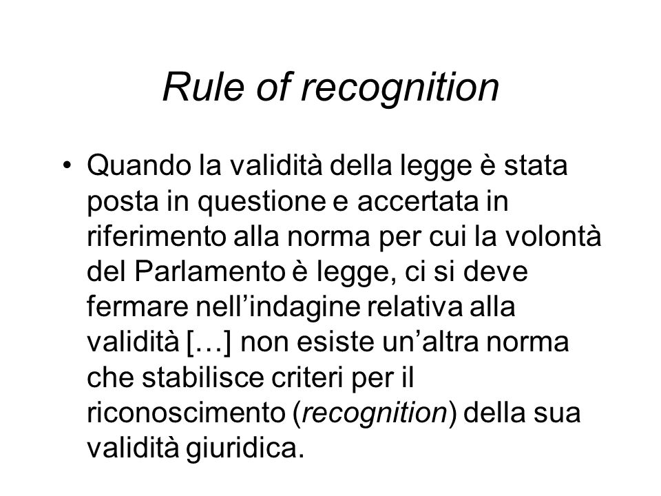 Rule of recognition