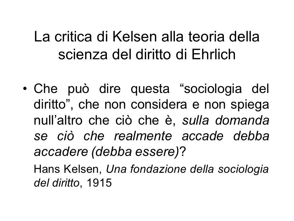 La critica di Kelsen alla teoria della scienza del diritto di Ehrlich