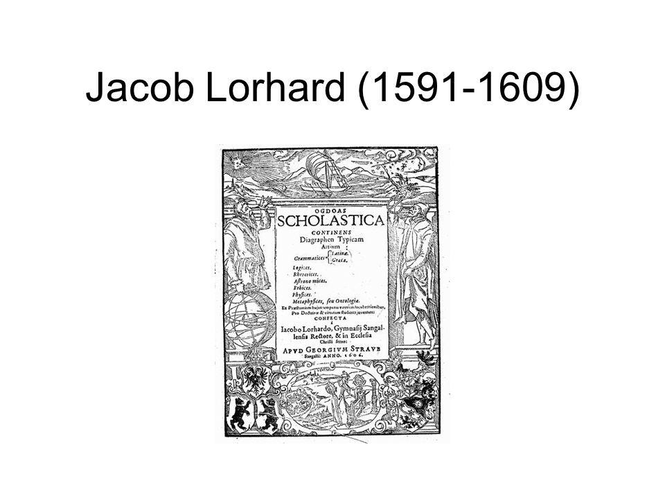 Jacob Lorhard (1591-1609)