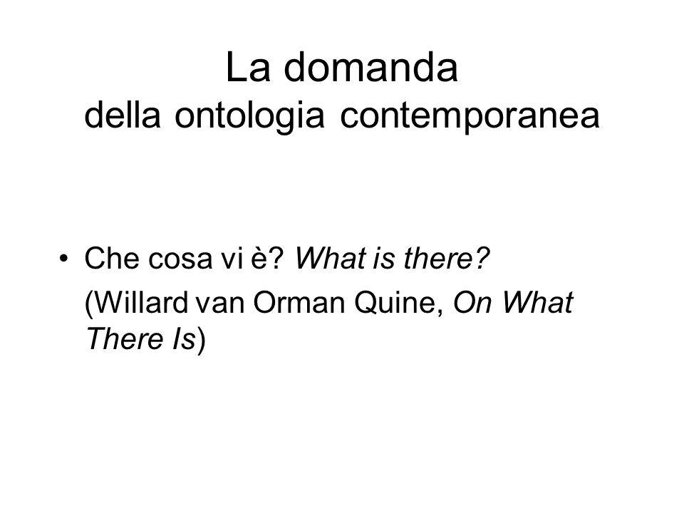 La domanda della ontologia contemporanea