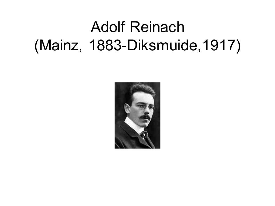 Adolf Reinach (Mainz, 1883-Diksmuide,1917)