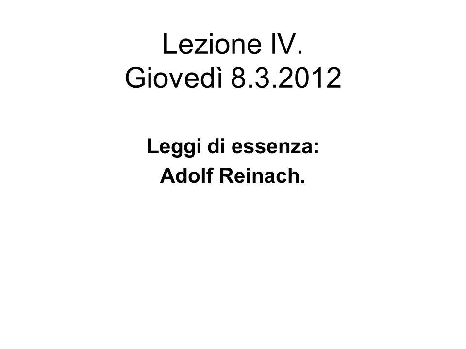 Leggi di essenza: Adolf Reinach.
