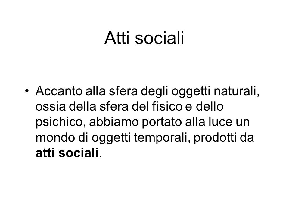 Atti sociali