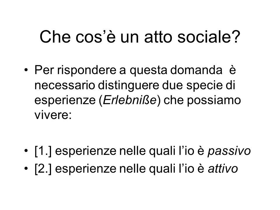 Che cos'è un atto sociale