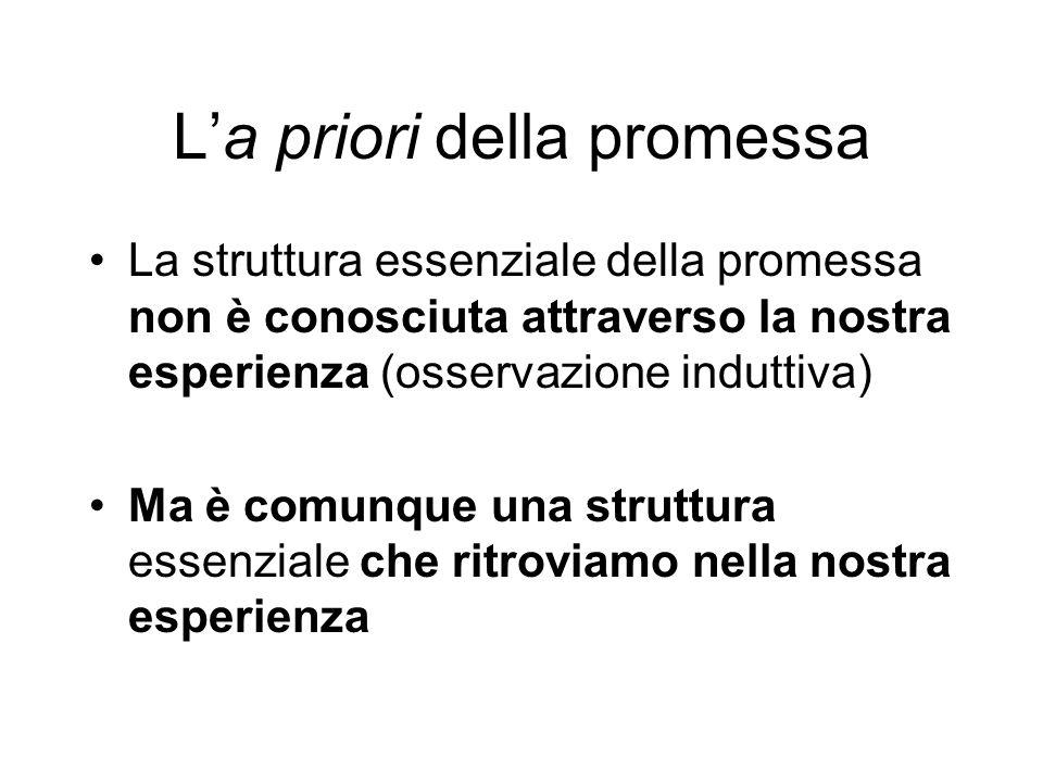 L'a priori della promessa