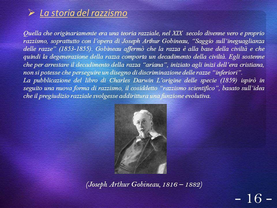 (Joseph Arthur Gobineau, 1816 – 1882)