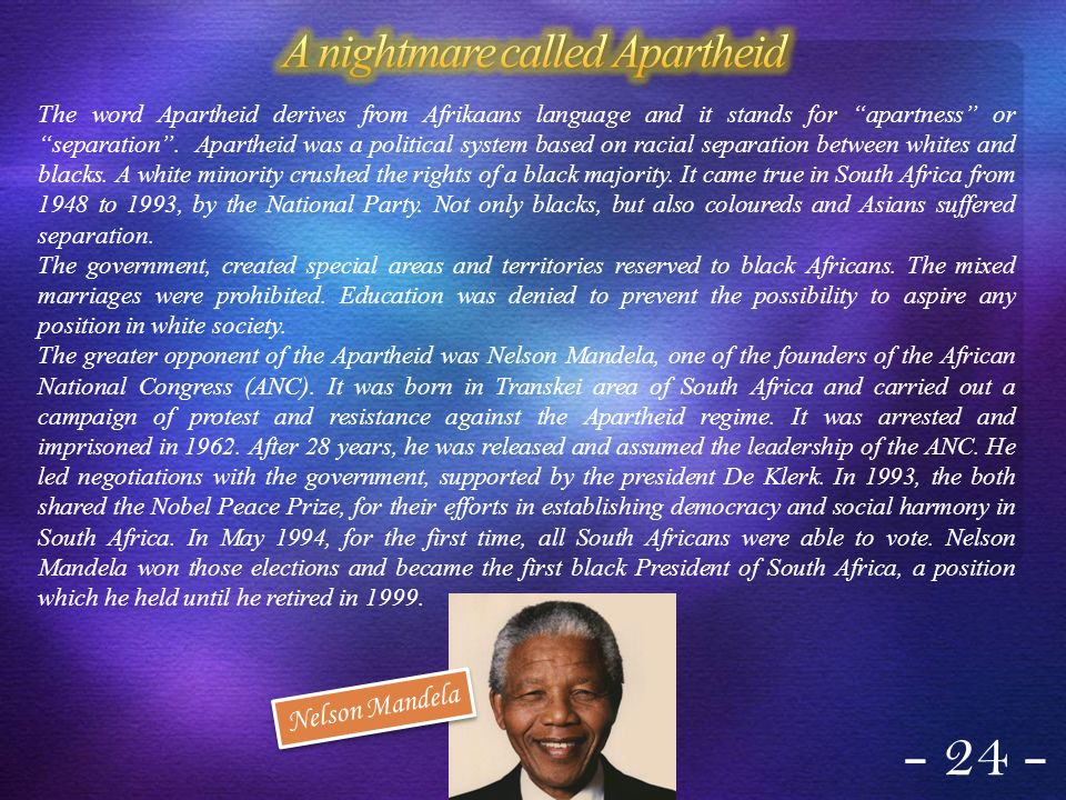 A nightmare called Apartheid