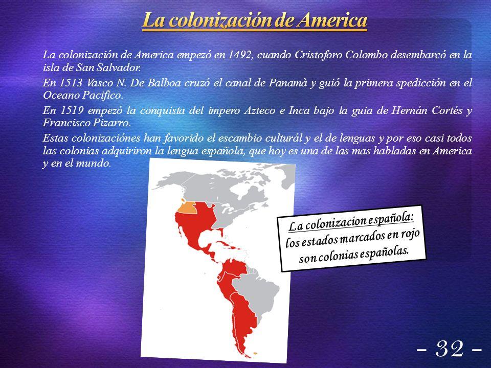 La colonización de America