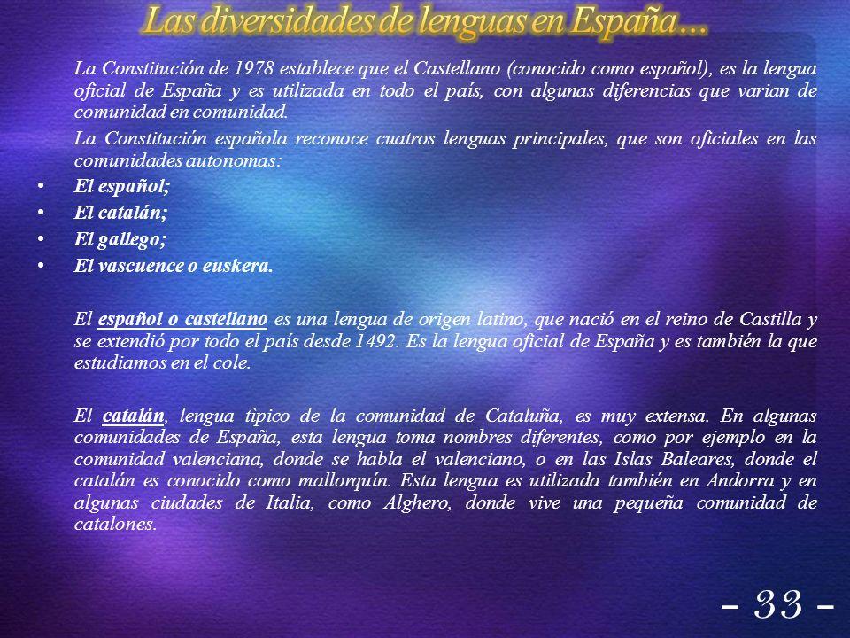 Las diversidades de lenguas en España…