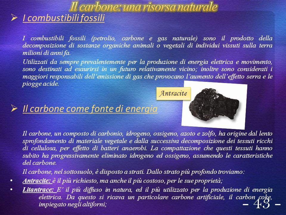 Il carbone: una risorsa naturale