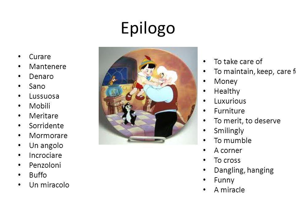 Epilogo Curare Mantenere Denaro Sano Lussuosa Mobili Meritare