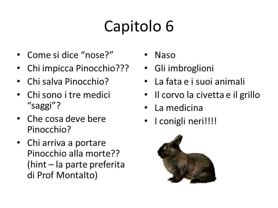 Capitolo 6 Come si dice nose Chi impicca Pinocchio