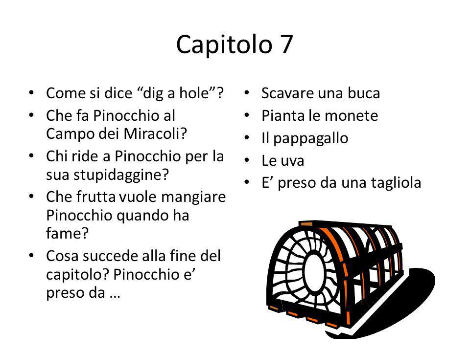 Capitolo 7 Come si dice dig a hole