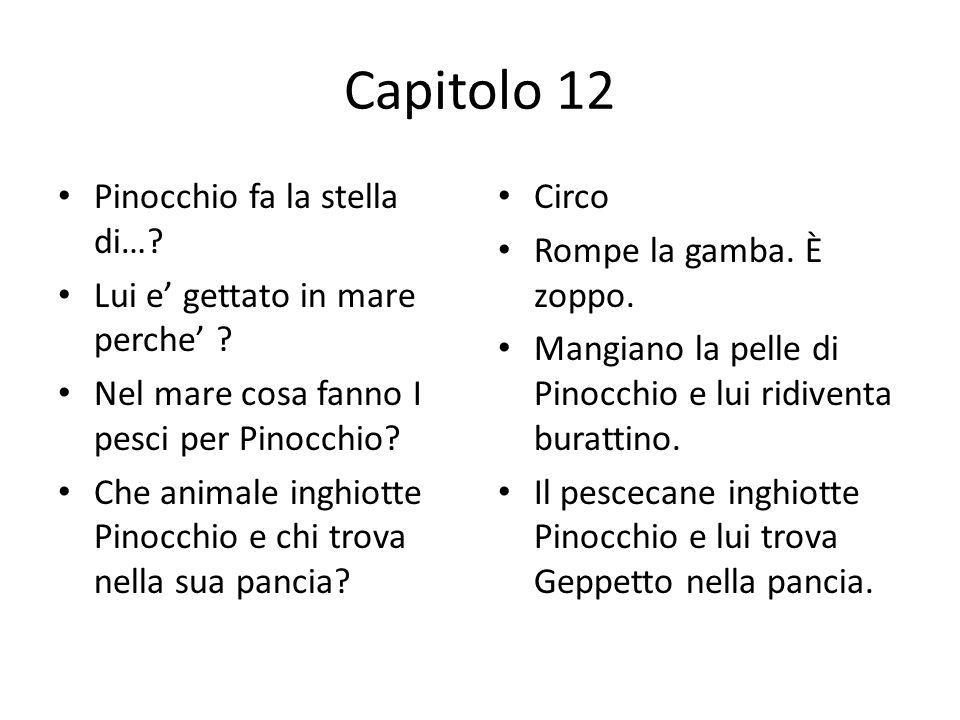 Capitolo 12 Pinocchio fa la stella di…