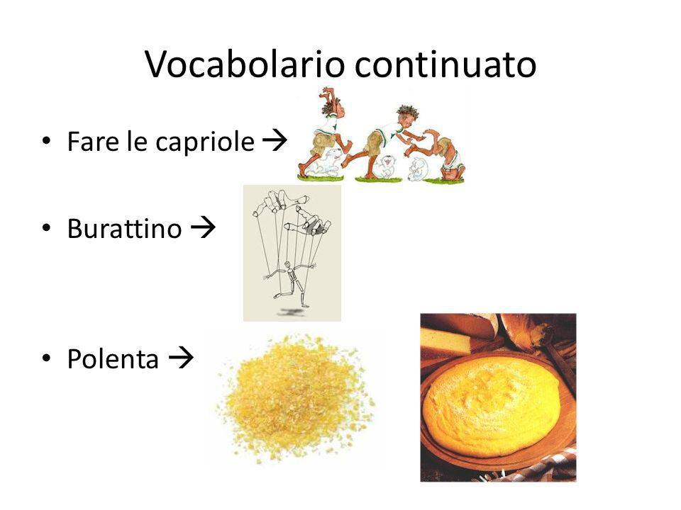 Vocabolario continuato
