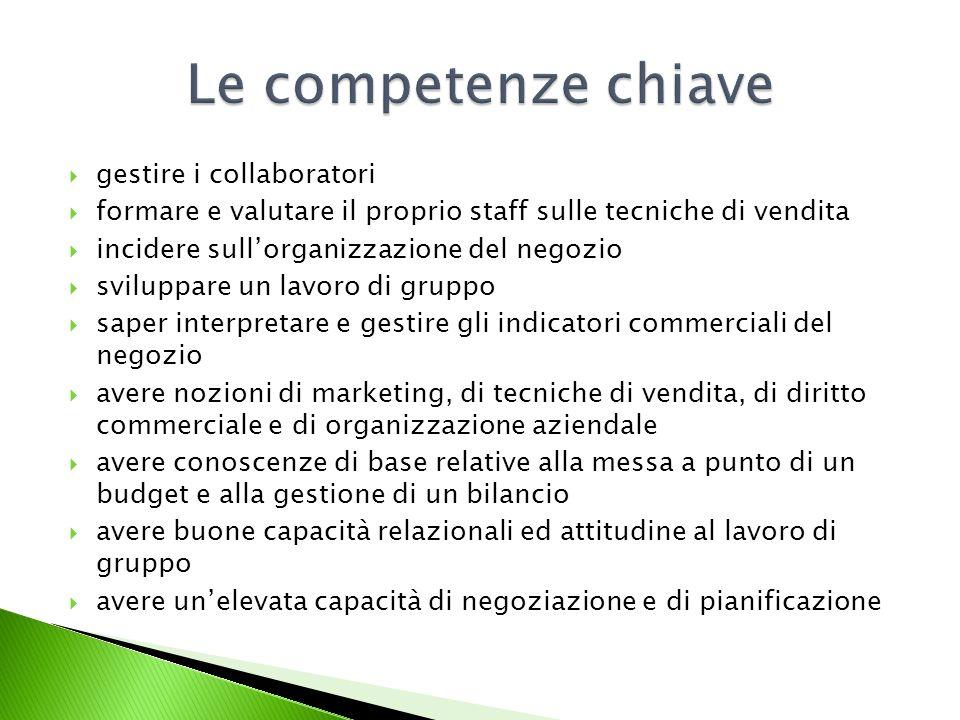 Le competenze chiave gestire i collaboratori