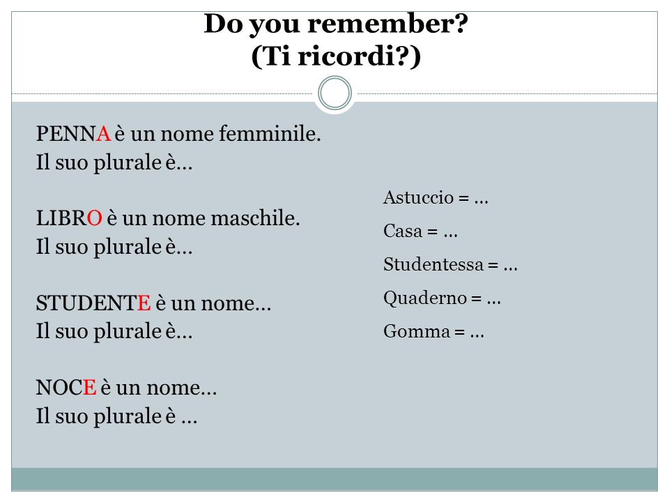 Do you remember (Ti ricordi )