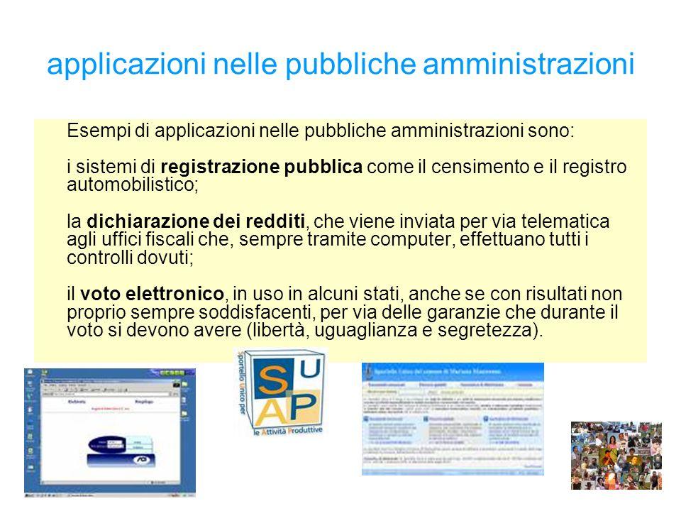 applicazioni nelle pubbliche amministrazioni