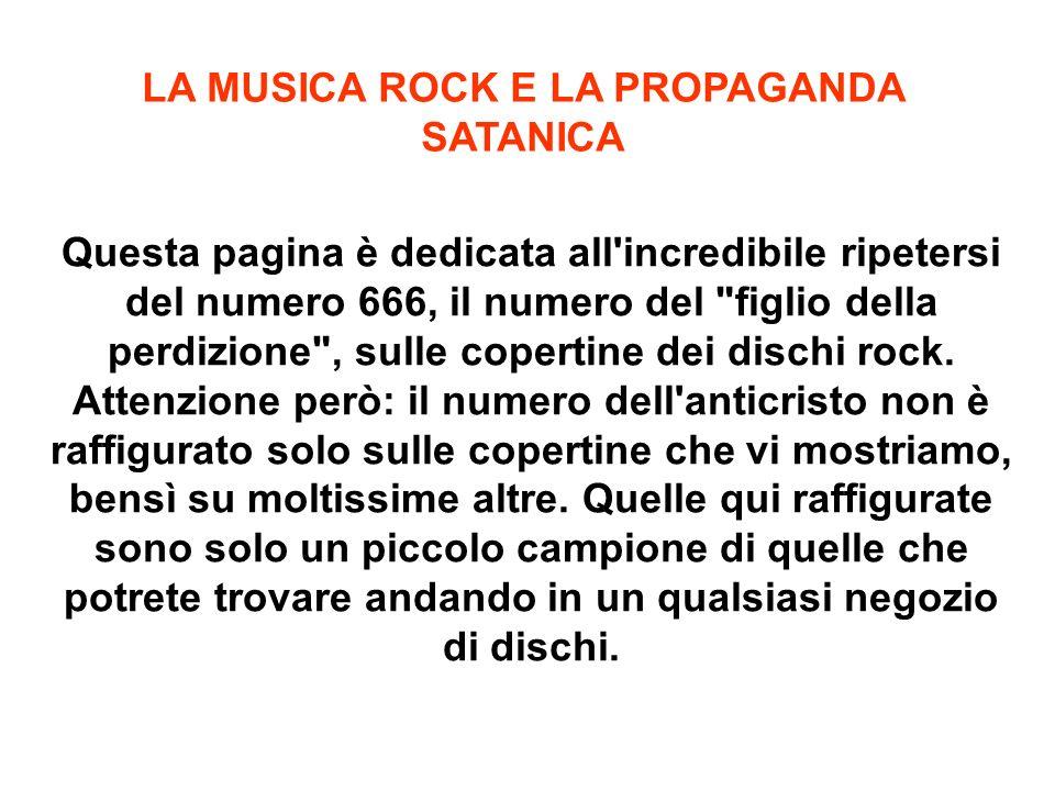 LA MUSICA ROCK E LA PROPAGANDA SATANICA
