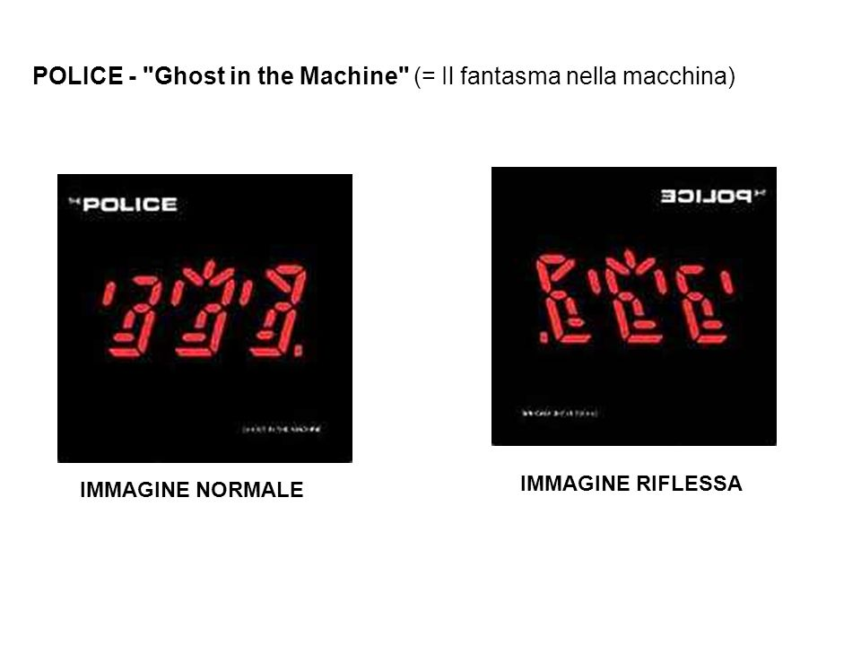 POLICE - Ghost in the Machine (= Il fantasma nella macchina)