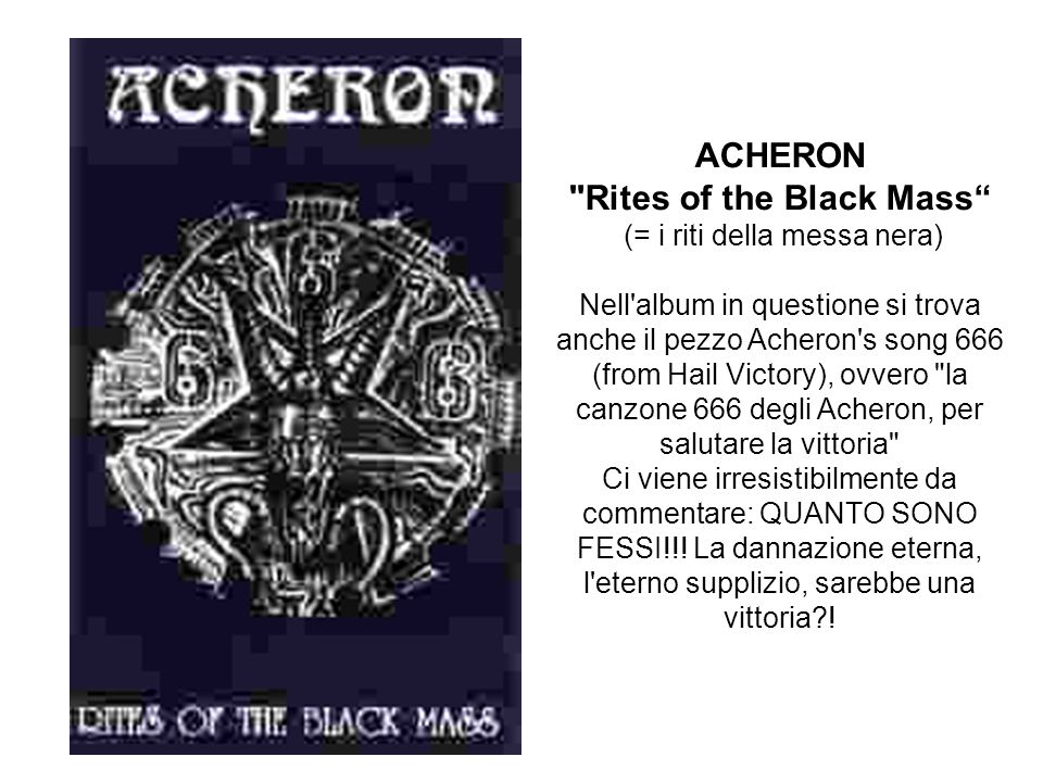ACHERON Rites of the Black Mass