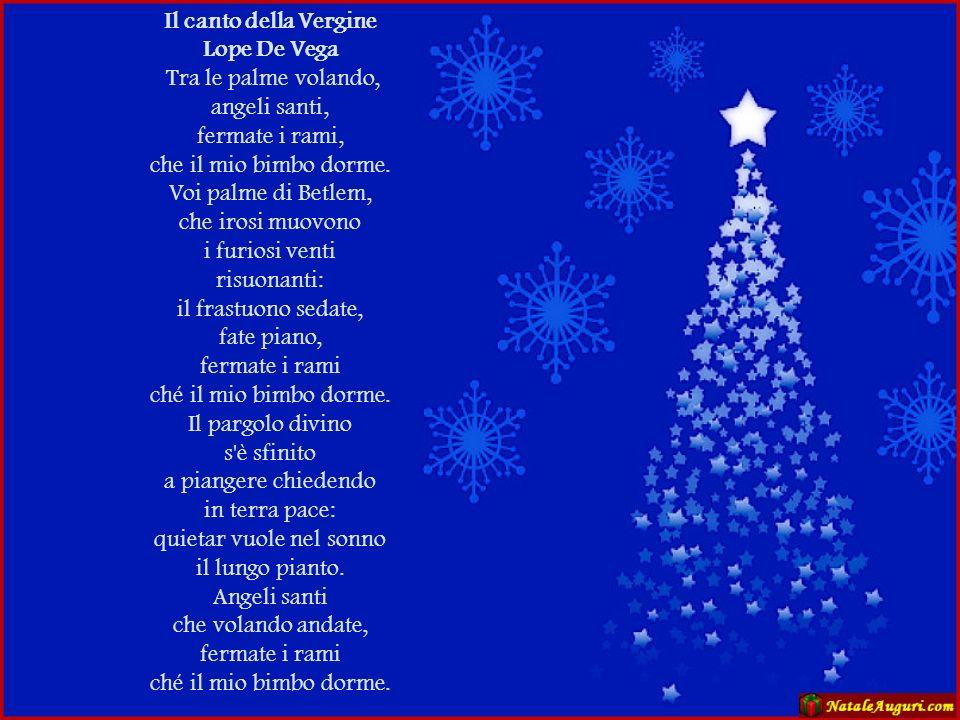 Il canto della Vergine Lope De Vega.