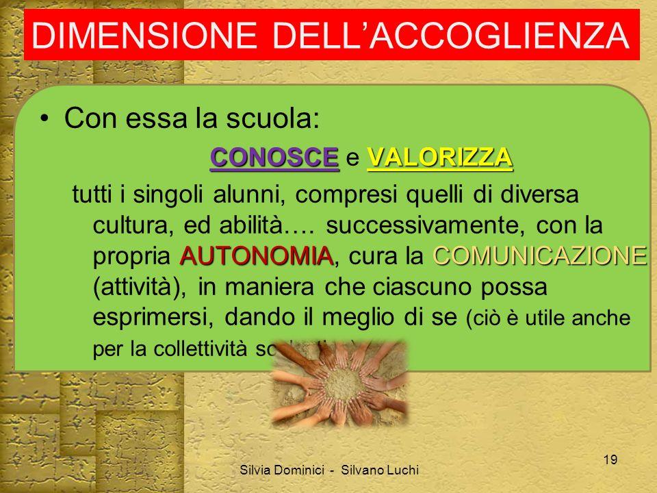DIMENSIONE DELL'ACCOGLIENZA