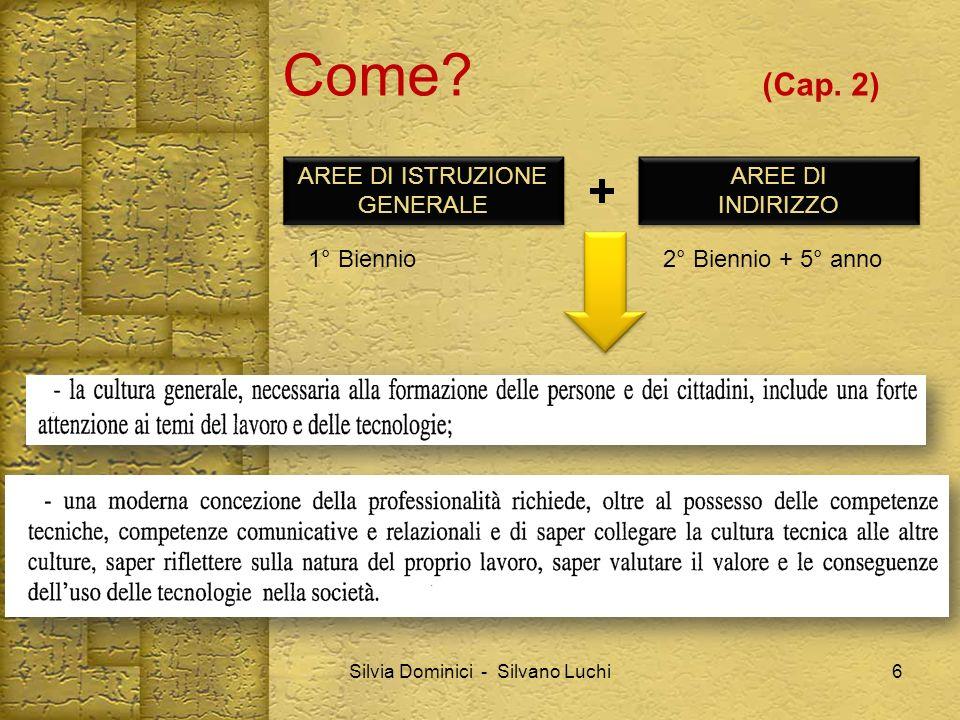 Come (Cap. 2) + AREE DI ISTRUZIONE GENERALE AREE DI INDIRIZZO