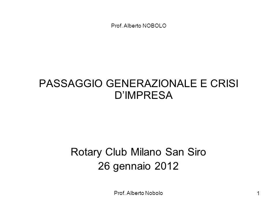 PASSAGGIO GENERAZIONALE E CRISI D'IMPRESA