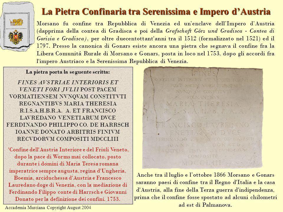 La Pietra Confinaria tra Serenissima e Impero d'Austria