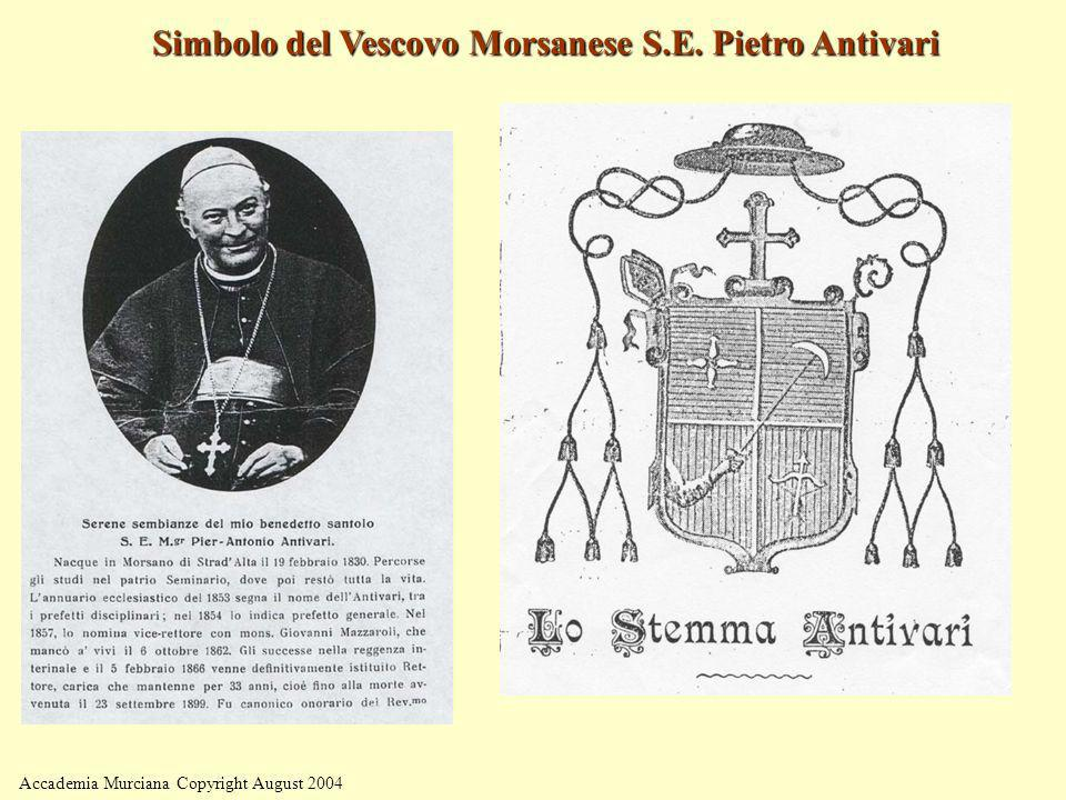 Simbolo del Vescovo Morsanese S.E. Pietro Antivari