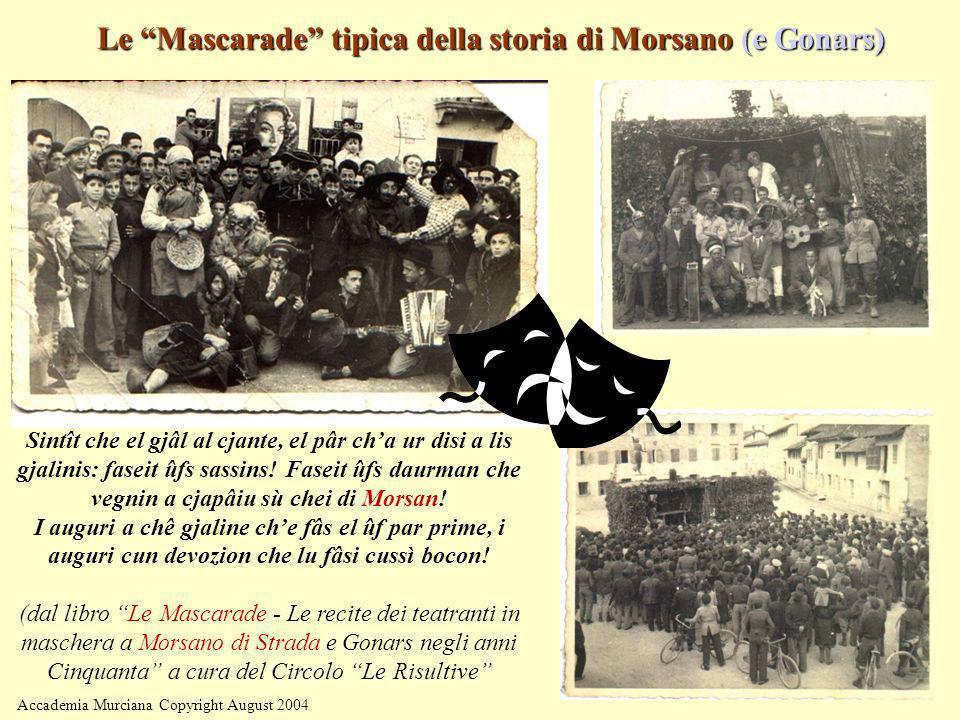 Le Mascarade tipica della storia di Morsano (e Gonars)