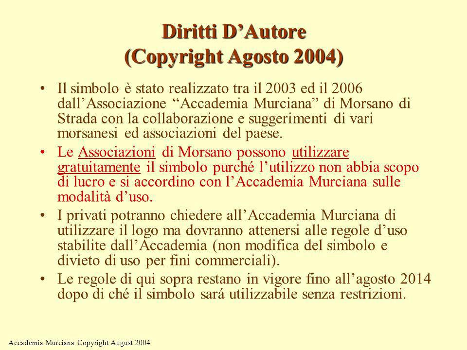 Diritti D'Autore (Copyright Agosto 2004)