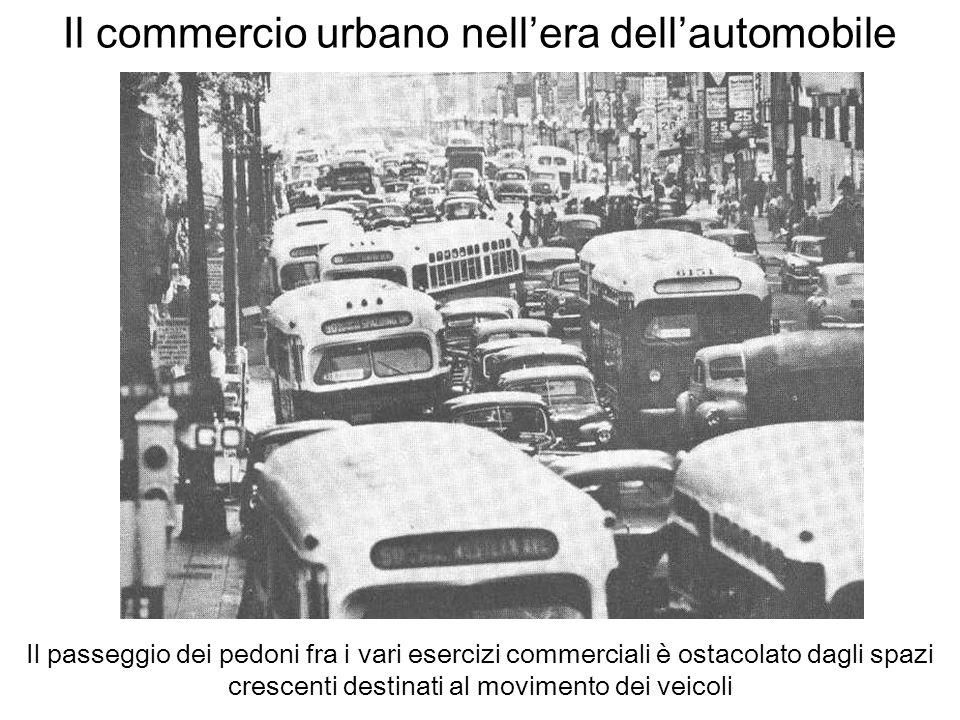Il commercio urbano nell'era dell'automobile