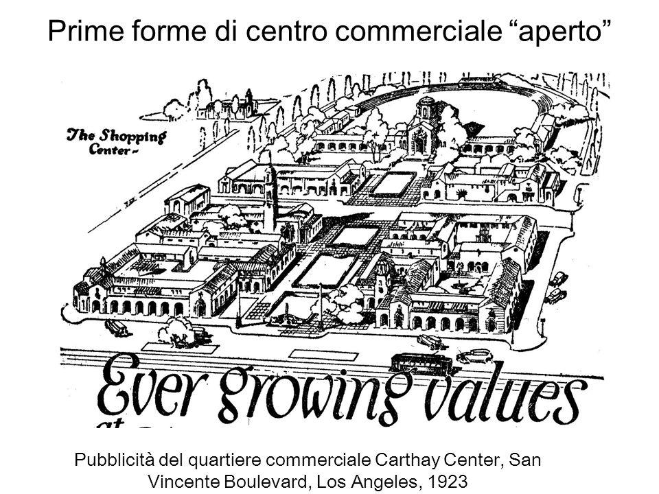 Prime forme di centro commerciale aperto