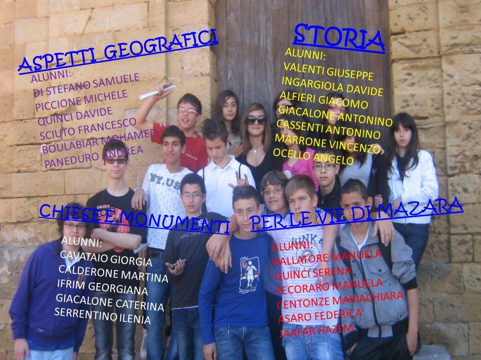 STORIA ASPETTI GEOGRAFICI PER LE VIE DI MAZARA CHIESE E MONUMENTI